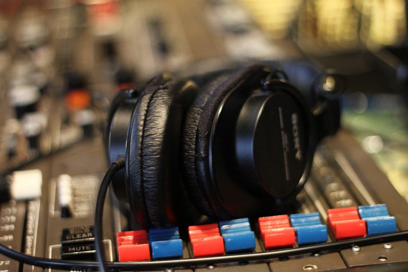 Headphones on console